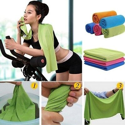 Core Iced Cool Two-sides Cooling Snap Towel Cold Instant for Fitness Gym Sports