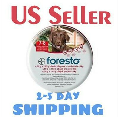 2 x Bayer Foresto, Seresto Flea & Tick Collar for Big Dogs above 18 lbs (8kg)