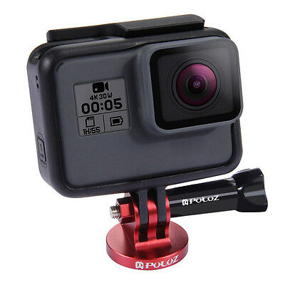 Aluminum Alloy Camcorder Tripod Mount Adapter For GoPro HERO4 Session 5 4 3+ 3 2