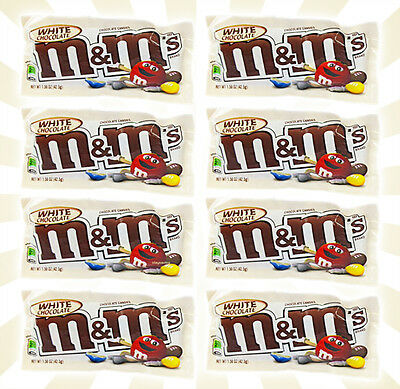 x8 M&M's White Chocolate by Mars NEW LIMITED EDITION FLAVOR Bags 1.50 OZ