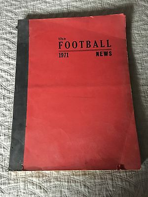 FOOTBALL NEWS BOUND COMPLETE 1971 NFL COLLEGE Pro Football Weekly TSN-like