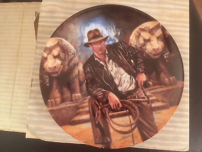 Indiana Jones And The Last Crusade Collectors Plate New In Box Very Nice.
