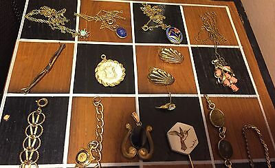 150+ Grams of Gold Filled Jewelry 10k, 12k, 14k, Opal, Gemstone Lot Antiques Too