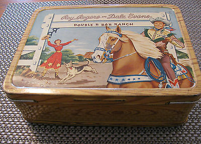 Vintage 1954 Roy Rogers Lunch Box / Nice Vintage Condition