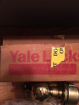 Yale Door Knob Lock Set Latch 5308 Brass