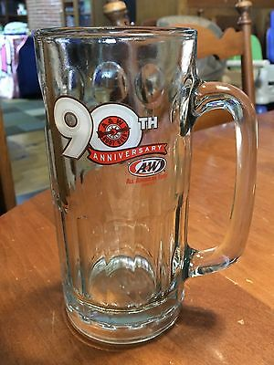 2009 A&W Root Beer 90th Anniversary Tall Glass Frosty Mug