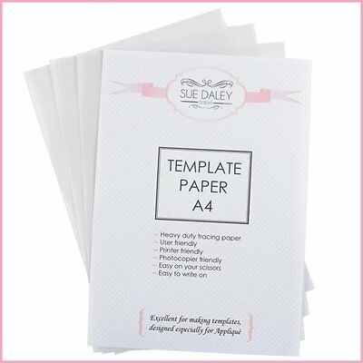 Sue Daley Template Paper Sheets A4 / White x 3 pieces / sewing/ patchwork/ craft