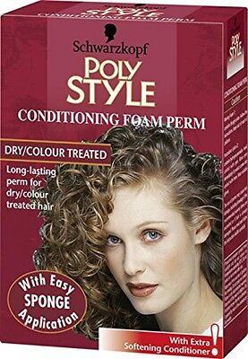 Schwarzkopf Poly Style Conditioning Foam Perm For Dry And Colour Treated Hair -