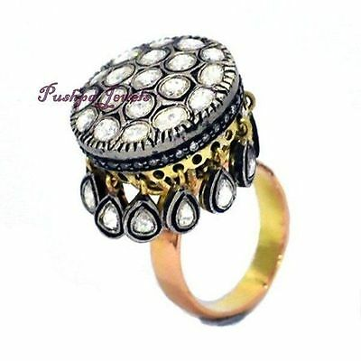 Royal Victorian 2.40ct. Rose / Antique Cut Diamond Ring For Party / Wedding