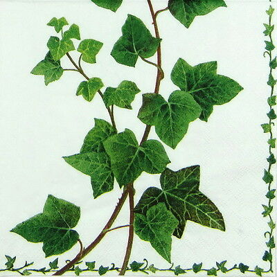 4x Ivy Tendril Paper Napkins for Decoupage Decopatch Craft