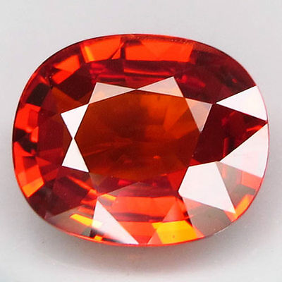 3.54ct.VERY BEAUTIFUL! 100%NATURAL HOT ORANGE MANDARIN SPESSARTITE GARNET AAA