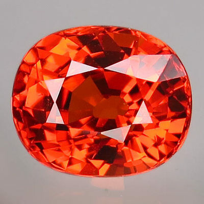 2.07ct.BLAZING GEM! 100%NATURAL HOT ORANGE MANDARIN SPESSARTITE GARNET AAA