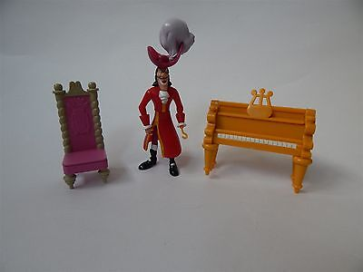 Disney Heroes Peter Pan Captain Hook Figure, Piano And Chair,  Famosa