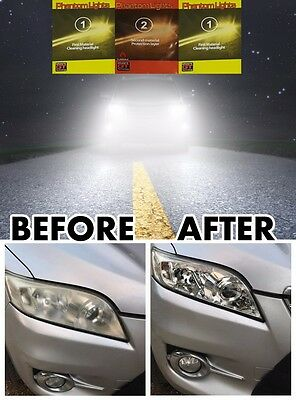 Car Headlight Lens Restorer Kit Restore Protect Clean Front Lights Cleaner Kit