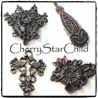 Vintage pendant settings findings from jeweller steampunk necklace charm