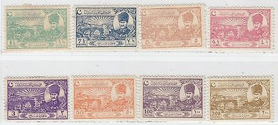 Turkey 1924   Issue  Full Set Unused Scott 625/32=Michel 799/806=Isfila 1130/36
