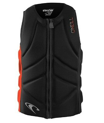 O'neill slasher comp vest wakeboard watersports impact jacket black neon red NEW