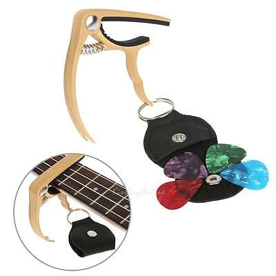 Alloy Capo with Pick Quick Change for Classic Acoustic Electric Guitar Ukulele
