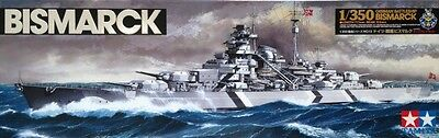 Tamiya 1/350 Bismarck Battleship Plastic Model Kit Brand New 78013