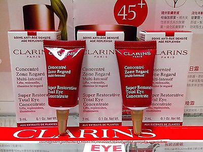 [Clarins] 2PCS Super Restorative Total Eye Concentrate (3ml/0.1oz)  FREE POST!