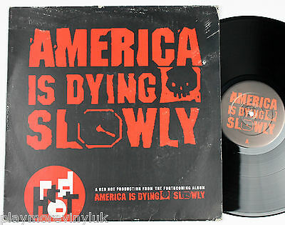 "America Is Dying Slowly 12"" Promo  WU-TANG CLAN/coolio/MOBB DEEP/pete rock"