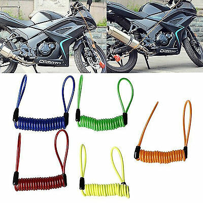 Motorcycle Bike Scooter Alarm Disc Lock Security Spring Reminder Cable Strong