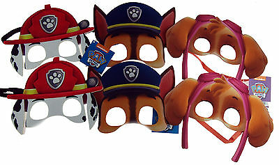 Set Of 6 Foam Paw Patrol Kid's Masks - Party Bag Fillers
