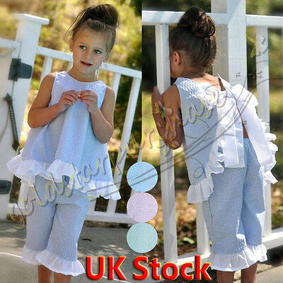 Toddler Kids Baby Girls Summer Outfits Clothes T-shirt Tops+Short Pants 2PCS Set