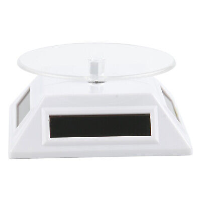 White Solar/Battery Powered Rotating Stand Product Display  - By TRIXES