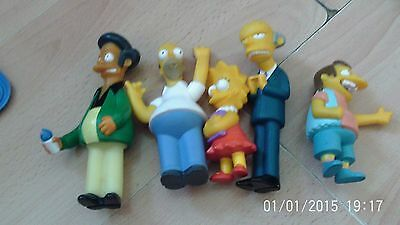 The Simpsons loose figures lot - 5 x 1st figure line. Mattel, 1990.