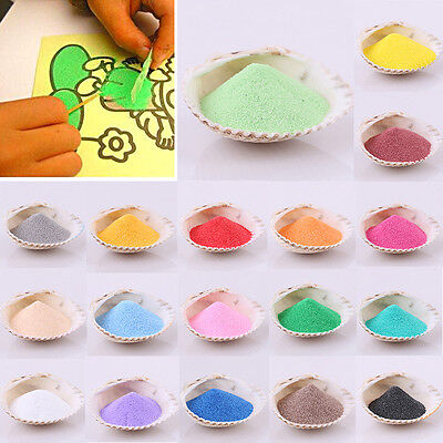 New 50g Sand Art Painting Kid Children Indoor Toy Crafts Materials