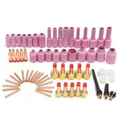 67Pcs TIG Welding Torch Gas Lens Back Cap Collet Body Assorted Kits WP-17/18/26