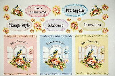 Rice Paper -Vintage Sweet Home- for Decoupage Decopatch Scrapbook Craft Sheet
