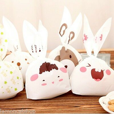 Rabbit Ears Cartoon Plastic Bags cute cookie sweet packaging gift wrap party bag