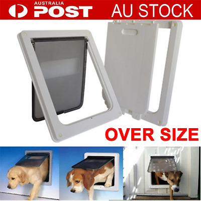 Frame 2 Way Locking Lockable Pet Cat Dog Puppy Flap Door Extra Large Size MO