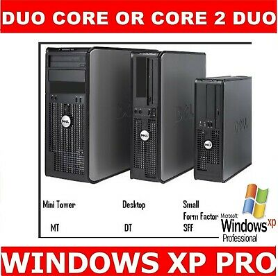 Dell Or Hp  Computer Tower Pc Duo Core 5.6Ghz To 6.0Ghz  4Gb Ram Windows Xp Pro