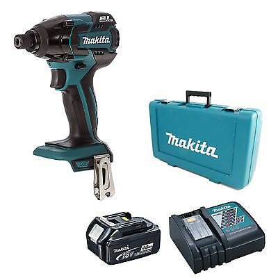 Makita 18V Dtd129 Impact Driver, Bl1840 Battery, Dc18Rc Charger & Case