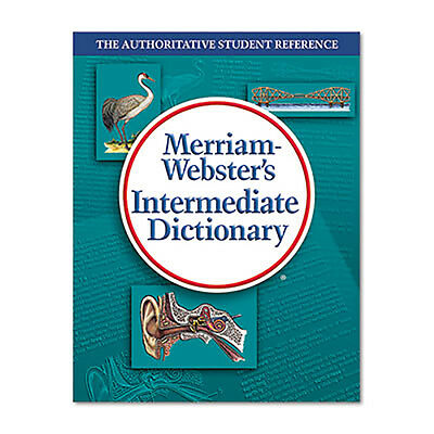 Merriam Webster Intermediate Dictionary Grades 6-8 Hardcover 1 024 Pages 6978
