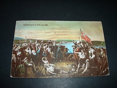 Northern Ireland  Ww2  The Relief Of Derry In The Year 1689  Original Postcard