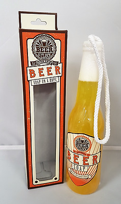 Large Novelty Beer O'clock Bottle Soap On A Rope Wash Clean Xmas Funny Gift