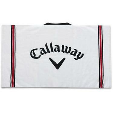 "*NEW* CALLAWAY GOLF COTTON TOUR WHITE GOLF TOWEL (30"" x 20"")"