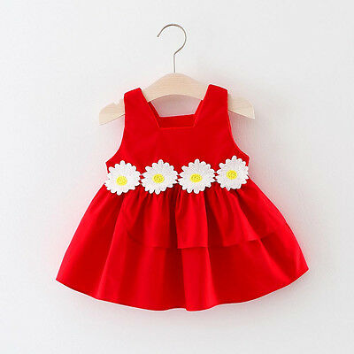 Toddler Kids Baby Girl Flowers Princess Tutu Dresses Party Wedding Pageant Gown