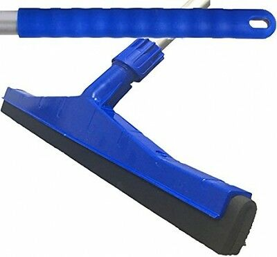 Blue Professional Hard Floor Cleaning Squeegee and Strong Alloy Handle For Wood