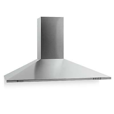 New 90Cm Air Extractor Fan Stove Filter Cooker Hood 80W Lighting Stainless Steel