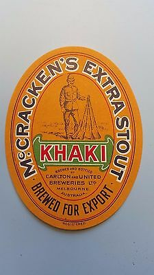 Mc Cracken's Extra Stout Beer Label