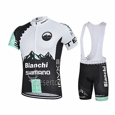 Completo ciclismo estivo Cycling Jersey and pants 2017 Team Bianchi white