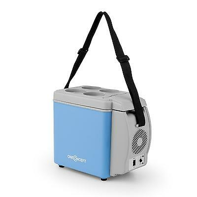 Oneconcept Blue Cool Thermo Box Travel Car 6 L 12 V Adapter Light Weight
