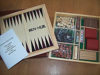Ben Hur 2016 movie promotional items Chess Dominoes backgammon Cribbage checkers