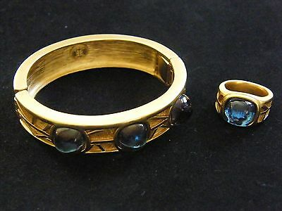 VINTAGE GIVENCHY BRACELET AND MATCHING RING SET CIRCA 1960s