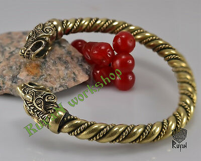 Viking Wolves bracelet Vikings torq Viking Bronze Berserker Vikings Jewelry Wolf